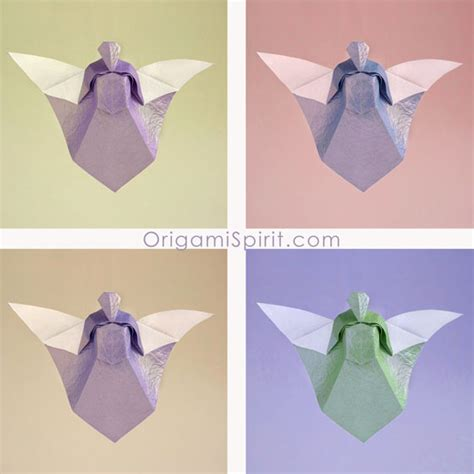origami angel printable how to make an origami angel