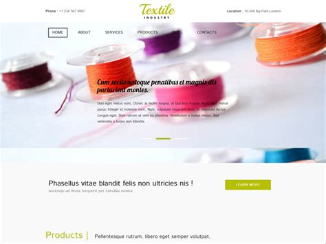 textiles templates textile free bootstrap template for industrial freemium