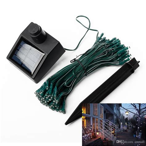 solar power led lights 100 bulb string 100 led string lights solar power energy saving