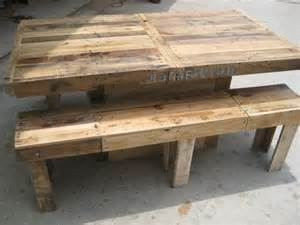 Wood Pallet Dining Table Diy Pallet Wood Dining Table 101 Pallets