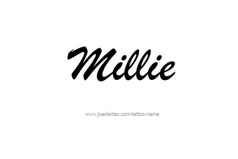 millie name tattoo designs