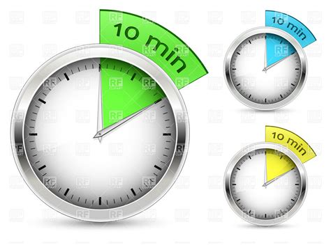 timer 10 mintues set of 10 minutes timers royalty free vector clip