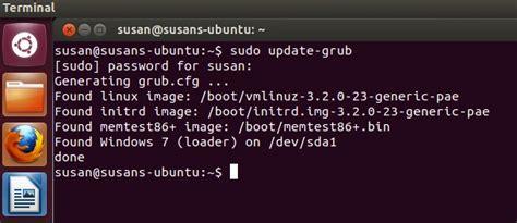 configuring the boot menu in ubuntu