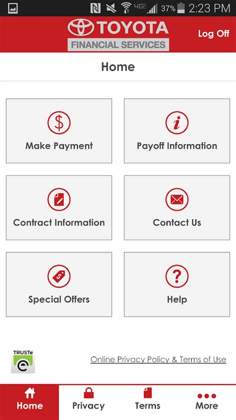 toyota payment account mytfs toyota financial android apps on play