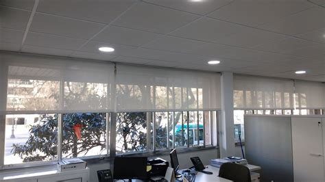 cortinas enrollables screen cortinas enrollable screen para oficinas de barcelona y