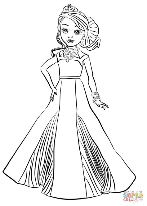 printable coloring pages descendants disney descendants auradon coronation audrey coloring page
