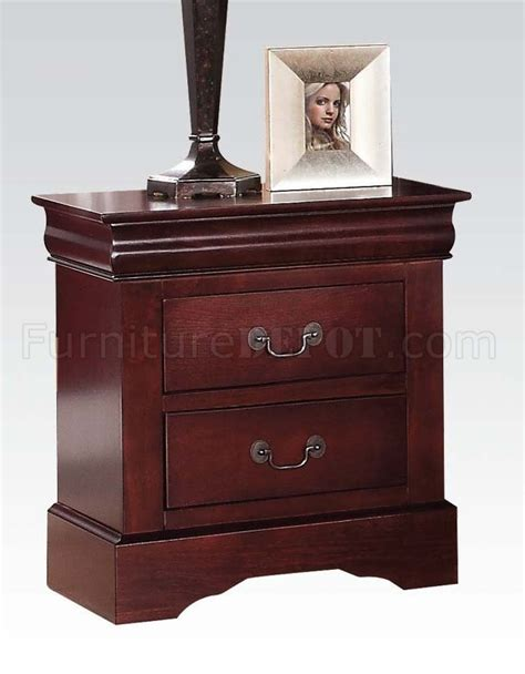 traditional 5pc bedroom set w options louis philippe iii 5pc bedroom set in cherry by acme w options
