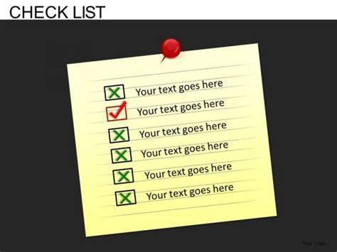 Powerpoint Checklist Template Questionnaire Powerpoint Templates Slides And Graphics Free Powerpoint Checklist Template