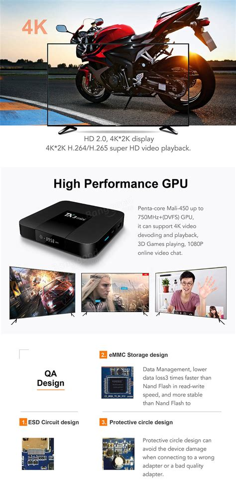 Tanix Tx3 New Ram 2g 16g Cpu S905w Os Nogaut 7 1 2 Miracast Wifi Lan s905w tx3 mini tv box 2 4ghz wifi android 7 1 2g 16g ddr3 support 4k hd ebay