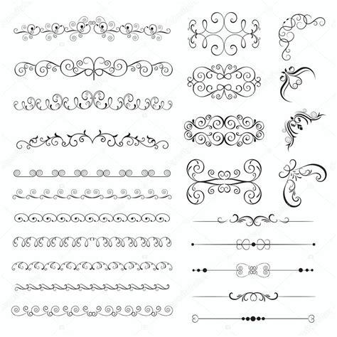 cornici decorative set di cornici decorative dell annata vettoriali stock