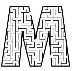free printable maze for uppercase letter m