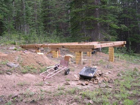 How To Build A Cabin Foundation by Small Cabin Foundation Ideas Cottage House Plans