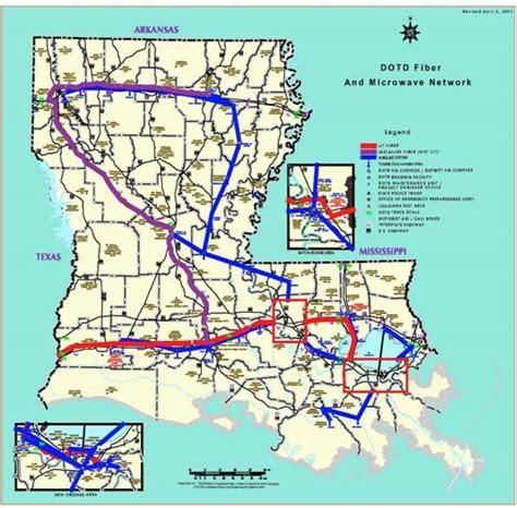 louisiana dotd map rural interstate corridor communications study report to