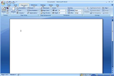 word layout default how do i change the normal template in word 2007 to my