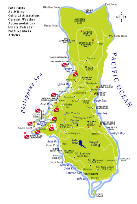 map of guam map of guam territory of guam maps mapsof net