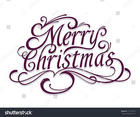 merry christmas vector calligraphic lettering stock vector  shutterstock