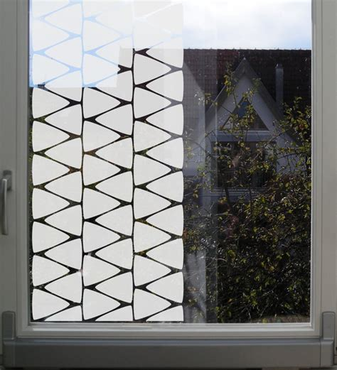 geometric pattern window film geometric window privacy film with triangles by musterladen