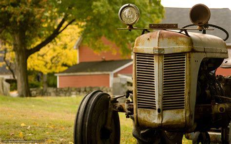 Tlcharger Fond D Ecran Tracteur Ferme Rouille Fonds D Bureau Fermé