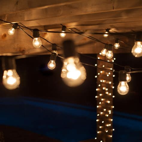 Decorative Patio String Lights by Outdoor Patio Lighting Home Depot Roselawnlutheran