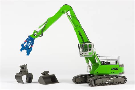 scale diecast model material handlers for your scrapyard diorama