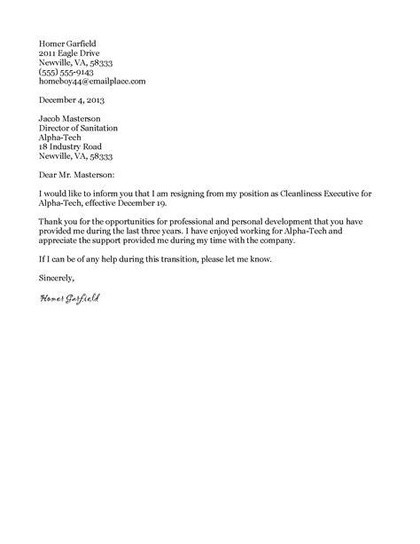 Best Resignation Letter Mail Resignation Letter Format Sle Design Formal Resignation Letter Template Standard Wording