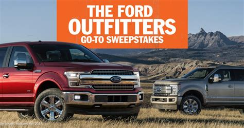 Sweepstakes Ford - this is your chance to win a ford f series truck
