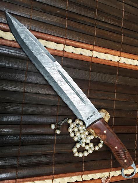 handmade bowie knives uk knife damascus steel handmade knife perkin
