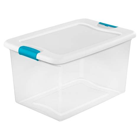 sterilite 64 qt latching storage box of 6 14978006