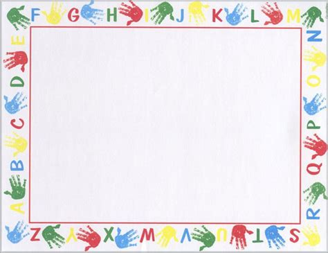 letter border templates free alphabet border school printable award certificates 8 5x11