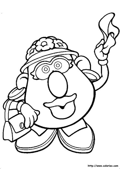 free coloring pages of miss potato head