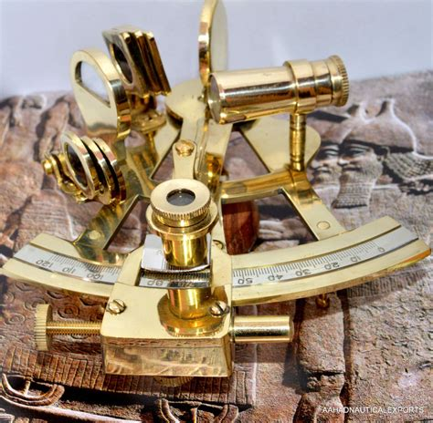 sextant l 4 quot solid brass sextant nautical working instrument