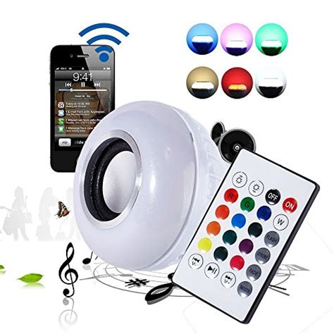 Christmast Bluetooth Speaker Table L With Led Light led light bluetooth bulb gift with stereo audio smart speaker wireless e27 7w