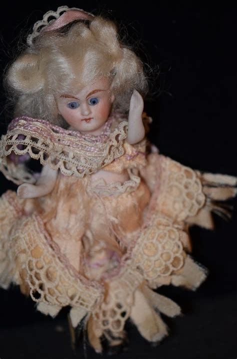 antique bisque dollhouse doll antique doll all bisque miniature dollhouse mignonette
