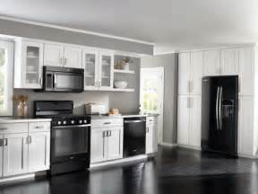 Kitchen With White Cabinets And Black Appliances White Kitchens With Black Appliances Info Home And Furniture Decoration Design Idea