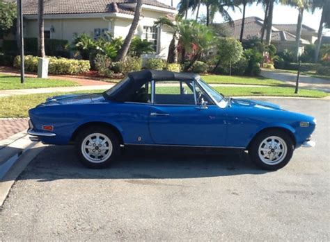 1972 fiat 124 spider classic italian cars for sale