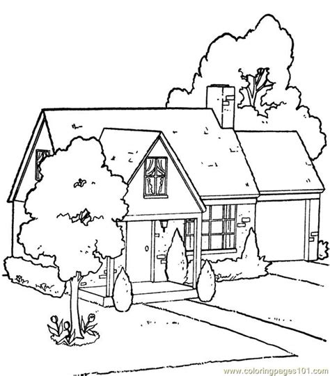 printable coloring pictures of a house garden house coloring page free houses coloring pages