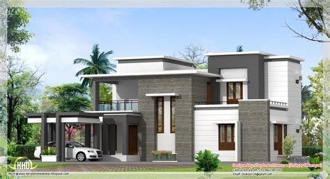 modern house plans 2000 sq ft 2000 sq feet contemporary villa plan and elevation kerala home design and floor plans