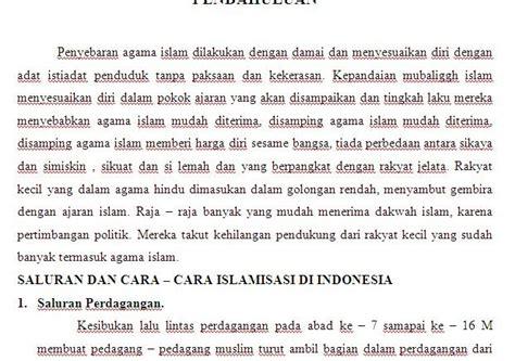 contoh makalah islam indonesia contoh surat dan