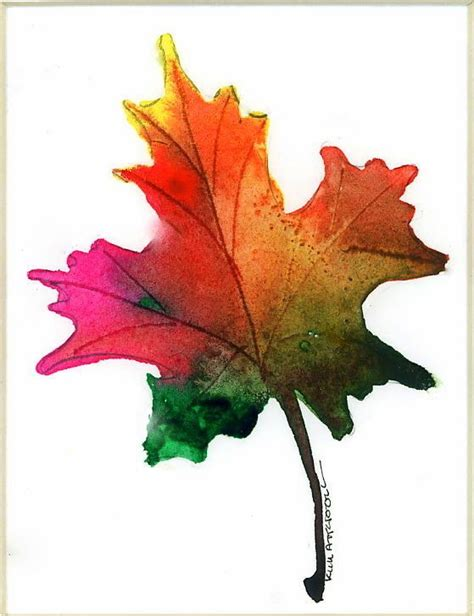 maple leaf watercolor by kim attwooll my watercolors