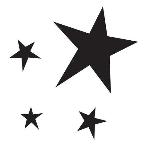 star group stencil for glitter tattoos for horses