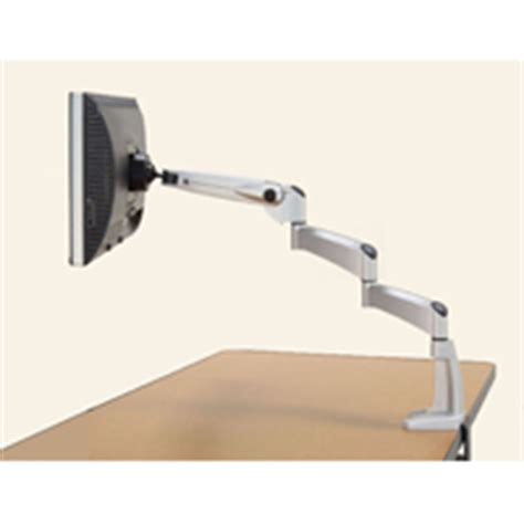 dbs swing arm workrite sa1500 db extended flat panel swing arm desk mount