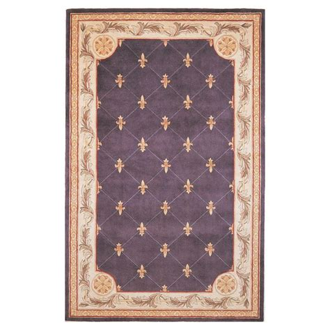 fleur de lis bath rug kas rugs antique fleur de lis grape 9 ft 6 in x 13 ft 6 in area rug jew031296x136 the home