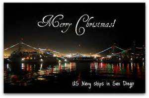 Decorate their ships for christmas it s a beautiful sight to behold