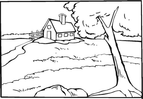 Country Coloring Pages country house near the river coloring page supercoloring