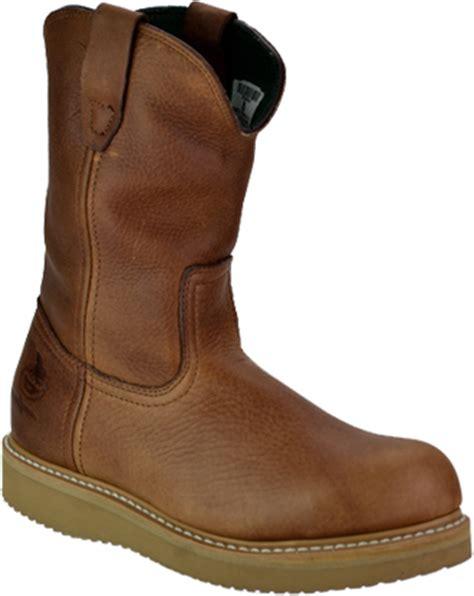 s boot 10 quot steel toe wedge sole wellington