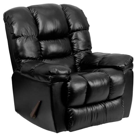 black leather rocker recliner new era black leather chaise rocker recliner the classy home