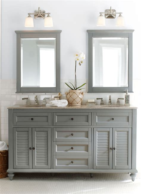 bathroom light above mirror special for b pinterest gorgeous in grey double the fun this bath vanity is a