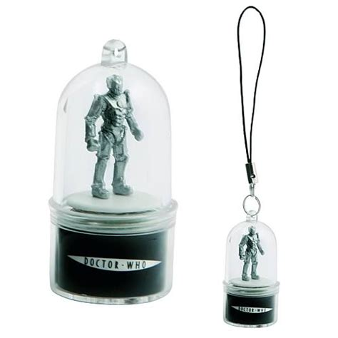 Dr Who Phone Charms Spin And Flash To Alert You Of Incoming Calls by Doctor Who Cyberman Rotating Cell Phone Charm