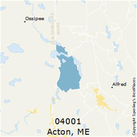 zip code map maine best places to live in acton zip 04001 maine