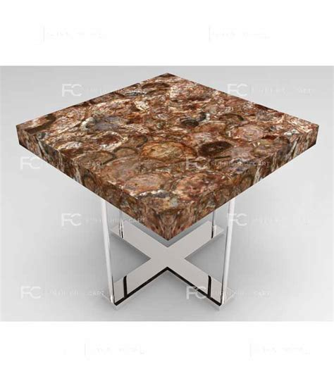 petrified wood end table petrified wood end table premio furnishingcart